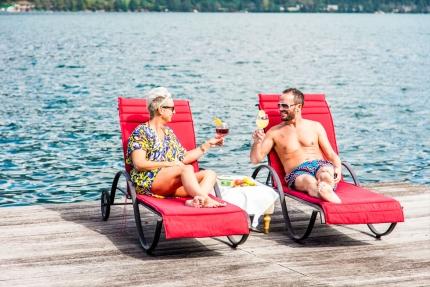 Badesteg der Seevilla Leitner – Urlaub im Ferienhaus – Ferienhaus am See  – Urlaub in Kärnten am See