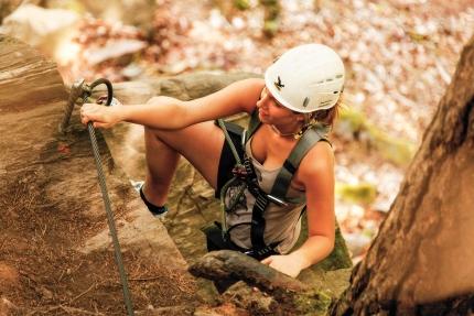 Outdoor-Klettern am Millstätter See beim Peter-Santner-Kletterfelsen – Urlaub im Ferienhaus – Ferienhaus am See – Seevilla Leitner – Urlaub in Kärnten am See