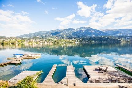 Hauseigene Bootsanlegestelle – Urlaub im Ferienhaus – Ferienhaus am See – Seevilla Leitner – Urlaub in Kärnten am See