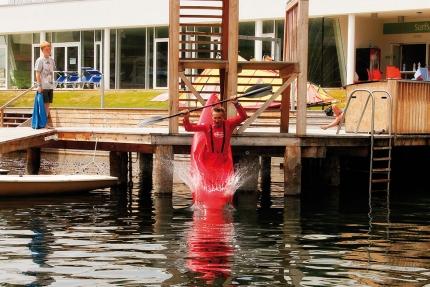 Kajak fahren am Millstätter See beim Schwesterhotel Sporthotel ROYAL X – Urlaub im Ferienhaus – Ferienhaus am See – Seevilla Leitner – Urlaub in Kärnten am See